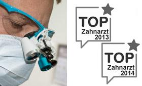 TOP Zahnarzt 2013 und 2014